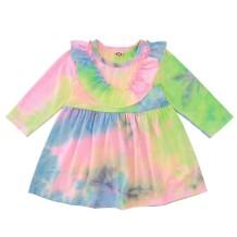 Kids Girl Autumn Tie Dye Skater-jurk