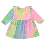 Детское осеннее платье с плиссированной юбкой для девочек