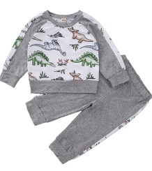 Conjunto de camisa e calça Kids Boy Autumn Animal