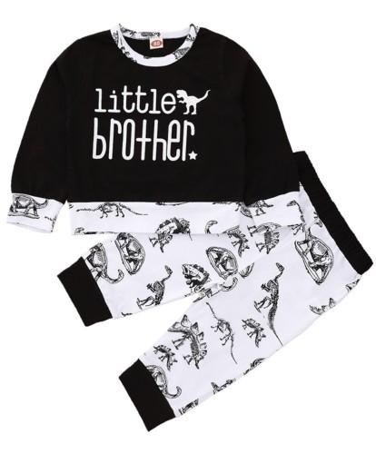 Kinderen jongens herfst dier shirt en broek set