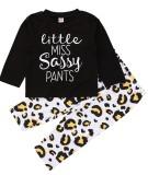 Kids Girl Autumn Print 2PC Top und Hosen Unterwäsche