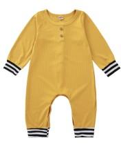 Tuta pagliaccetto giallo autunno neonato