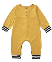 Baby Boy Autumn Yellow Strampler Overall