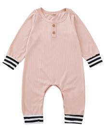 Baby Girl Autumn Pink Strampler Overall