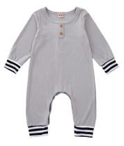 Tuta pagliaccetto grigio autunno neonato