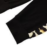 Kinder Mädchen Herbst Leopard Hoody Top und Hosen Set