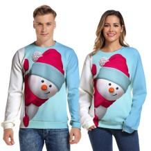 Unisex Christmas O Neck Sweat Shirt