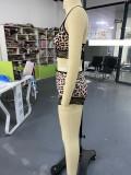 2-delige lingerie-bh en short met luipaardprint