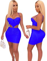 Sexy Cut Out Push Up Halfter Bodycon Kleid