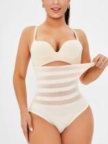 Body sexy de rejilla con levantamiento de glúteos y cintura