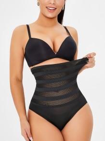Sexy Fishnet Butt Lift Waist Cincher Bodysuit
