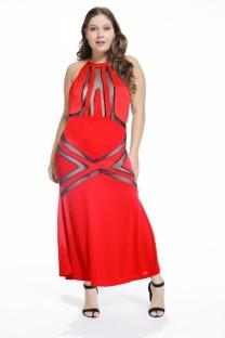 Сексуальное длинное платье с короткими рукавами больших размеров, нижнее белье