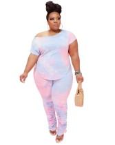 Bijpassend overhemd en gestapelde leggingset in grote maten
