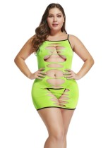 Plus Size 2pc Cut Out Sexy Lingerie Set