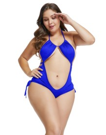 Plus Size Side-Strings Halfter Teddy Dessous