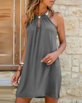 Mini vestido halter con junta tórica de verano