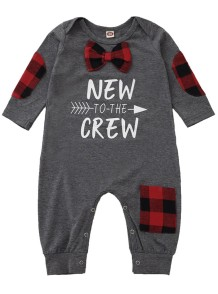 Baby Boy Autumn Tied Grey Strampler Overall