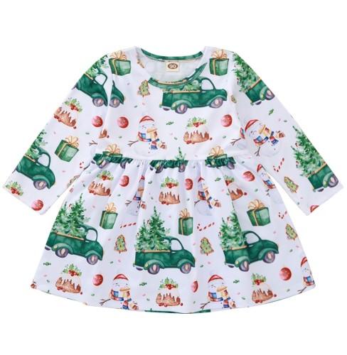 Vestido de Navidad con estampado de niña para niños