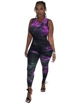 Tie Dye Sexy mouwloze bodycon-jumpsuit