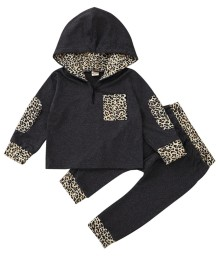 Kids Boy Autumn Leopard Hoody Sweatsuit