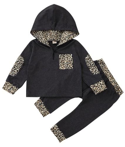 Kids Boy Autumn Leopard Hoody Sweatsuit