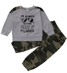 Kinder Junge Herbst Camou Matching Pants Set