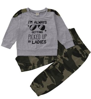 Set di pantaloni coordinati per bambini in autunno Camou