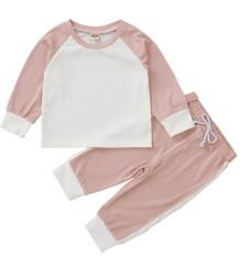 Conjunto de pijama para crianças menina outono combinando