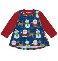 Vestido de Natal com estampa A-line para bebê