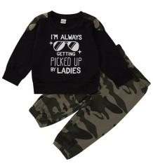 Conjunto de calças combinando Kids Boy Autumn Camou