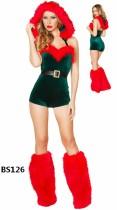 Sexy rotes und grünes Weihnachtskostüm