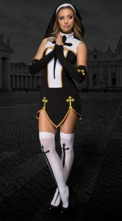 Hollaween Women Nun Sexy Costume