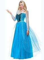 Conjunto de fantasia cosplay Queen Blue