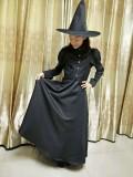 Набор длинных костюмов черной ведьмы на Хэллоуин