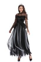 Ensemble de costume de reine d'Halloween noir