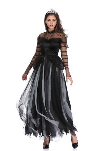 Halloween Queen zwarte kostuumset