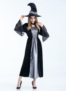 Halloween Witch Long Costume Set