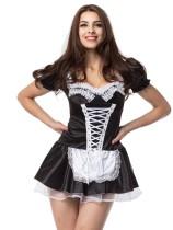 Set costume da cameriera francese nero sexy