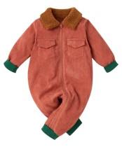 Pagliaccetti con cerniera a contrasto manica lunga per neonato
