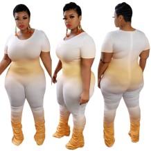 Gestapelde jumpsuit met print en grote maten