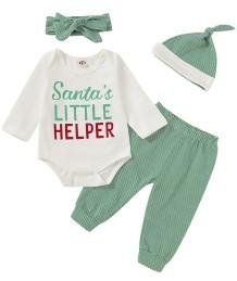 Conjunto de 3 pantalones navideños para bebé niño