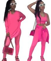 Сплошной цвет: комплект из 3 подходящих бюстгальтеров + брюки + рубашки