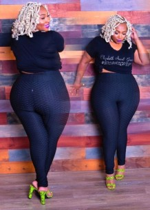 Plus Size High Waist Fitted Leggings