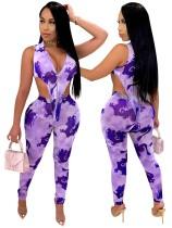 Sexy Print 2pc Matching Bodysuit and High Waist Legging Set