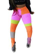 Sexy Seitenschlitz Hose mit hohem Taillenkontrast