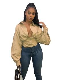 Блузка с однотонными сексуальными шортами и рукавами в стиле поп