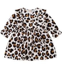 Kids Girl herfst luipaard print jurk