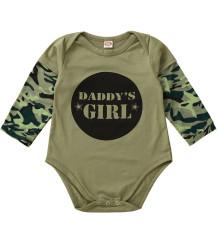 Barboteuse à manches longues à imprimé camouflage pour bébé garçon