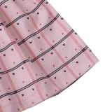 Детское осеннее платье в клетку с оборками для девочек