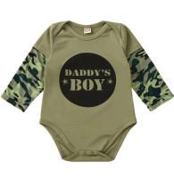 Baby Boy Camou Print Langarm Strampler